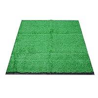 【バレンタインデーカーニバル】39.4x39.4x0.6inアーミーグリーン/グリーン人工芝、合成芝生、屋内パスパーク用の高密度高密度ドライブウェイ芝生裏庭(Emerald)