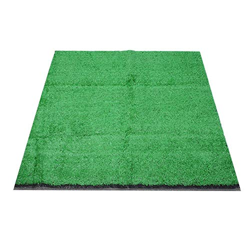 Junluck Grass Turf, Synthetic Synthetic Lawn, 15mm Pile Height Landscape Fake Turf 1 x 1m for Outdoor Indoor(Emerald)