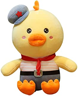 JJZXD Stuffed Down Cotton Cute Yellow Duck Plush Toys for Children Soft Pillow Cushion Nice (Color : Style 1, Size : 70cm)