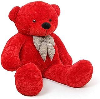 Gift Teddy Bear for Children and Female Huge Size 120CM (Red) kmte