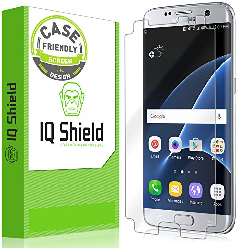 IQ Shield Screen Protector Compatible with Samsung Galaxy S7 Edge (Case Friendly) LiquidSkin...