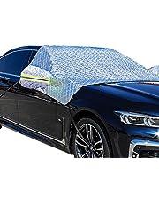 [Yoksun] フロントカバー フロントガラスカバー 凍結防止シート保護カバー 厚型 撥水加工 車用 雪対策 落葉対策 鳥の糞対策 取付簡単 車サンシェード カーシェード サンシェイド 遮熱 普通車/軽自動車 車種汎用