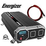 Energizer 1100 Watt 12V Power Inverter, Dual 110V AC Outlets, Automotive Back Up Power Supply Car Inverter, Converts 120 Volt AC with 2 USB Ports 2.4A Each