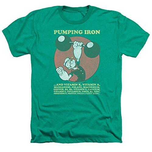 Popeye – Tee Shirt Hombre bombeo Hierro Chino Kelly Verde XXL