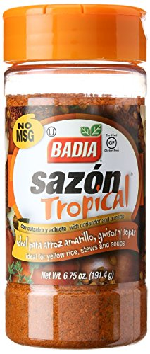 Badia Sazon Tropical With Coriander And Annato, 6.75 oz