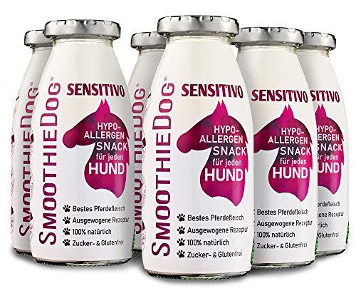 SmoothieDog 6er Pack Sensitivo mit Pferd je 250ml Hundesmoothie glutenfrei/Zuckerfrei - Hypoallergen