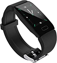 Sailos Smart Fitness Bracelet Activity Tracker Heart Rate Monitor , Sports Waterproof Wristband,Sleep Monitor, Black 1.14 ...