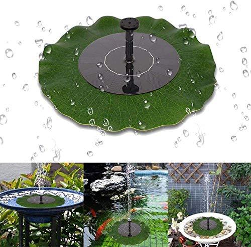 Oiseau 's Fontaine Solaire Baignoire Flottante Feuille Lotus Fontaine avec Quatre Buses étang, BirdBath, décoration Jardin