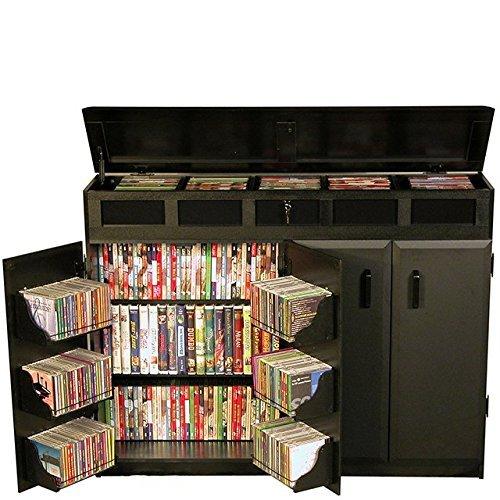 Venture Horizon Top Load Media Cabinet- Black