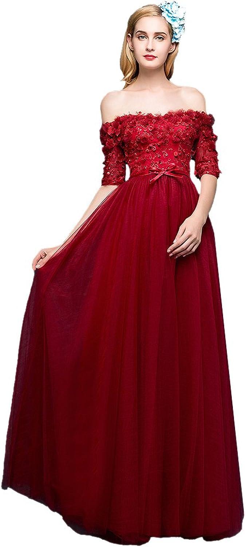 AK Beauty Women's Sequins Appliques Aline Long Evening Gown
