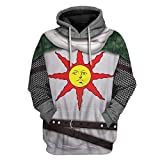 IDEALcos Sudadera con capucha para hombre Amiibo Cosplay Dark Solaire con impresión 3D de Warrior Knight Souls Adult Color: 1 L