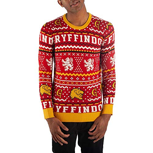 Gryffindor Sweater Harry Potter Sweater Hogwarts Sweater Gryffindor Apparel-Small