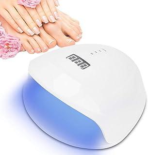 Secador de gel de uñas, 56W Lámpara inteligente de secador de gel de uñas UV LED Pantalla LCD Máquina de curado de manicura(110V-240V)