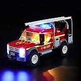 LIGHTAILING Set di Luci per (City Town Fuoristrada dei Vigili del Fuoco) Modello da Costruire - Kit Luce LED Compatibile con Lego 60231 (Non Incluso nel Modello)