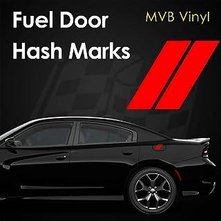 Fuel Door Hash Marks Vinyl Decal Body Graphics   Charger