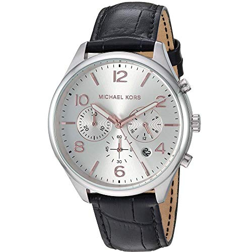 Michael Kors Reloj Cronógrafo para Hombre de Cuarzo con Correa en Cuero MK8635