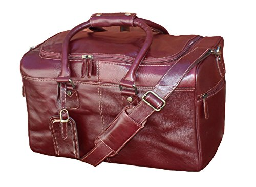 STARHIDE Genuine Leather Duffle Holdall Overnight Travel Weekend Gym Sports Luggage Flight Carry On Cabin Bag 545 Brown