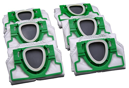 Bolsas de aspiradora, 6 unidades, microfieltro, 5 capas, aptas para alérgicos, para Vorwerk Kobold VK 200