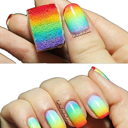Malloom® éponges De Nail Art Estampage Transfert De Modèle à Ongles Outil Bricolage Manucure