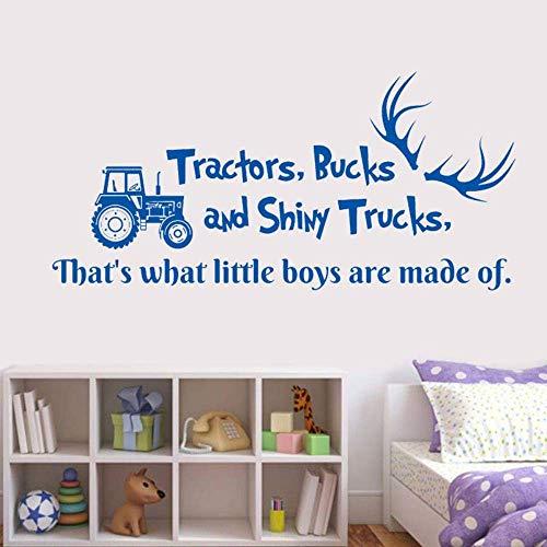 Fototapete Traktoren Dollar Und Shiny Trucks Hirschgeweih Kipper Aufkleber Kinderzimmer Jungen Schlafzimmer Dekor