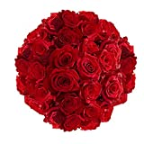 GlobalRose 100 Red Roses- Next Day Delivery by Friday July 31 - Beautiful Fresh Cut Flowers