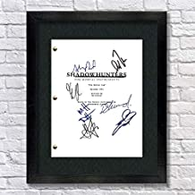 Shadowhunters TV Autographed Signed Reprint 8.5x11 Script 13x15 Framed Cassandra Clare, Clary Fray, Jace Wayland