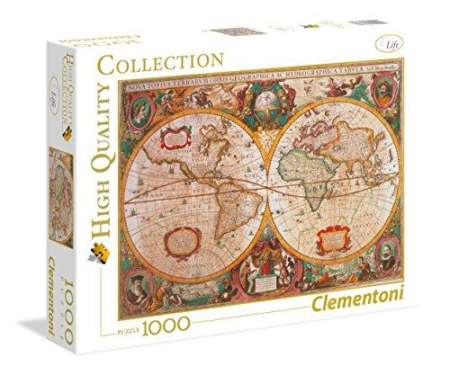 Clementoni - Puzzle de 1000 Piezas,, diseño Mapa Antiguo (312290)