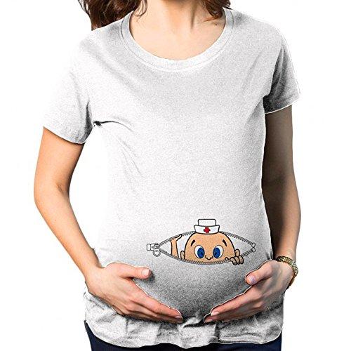 MEIHAOWEI Cómodo Maternidad Embarazada Camisetas Casual Embarazo Ropa K239 XL