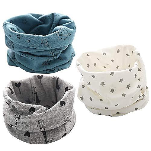 LLMZ Kinder Schals 3 Stück Kinder Loop Schlauchschal Baby Loop Schal für Jungen Mädchen