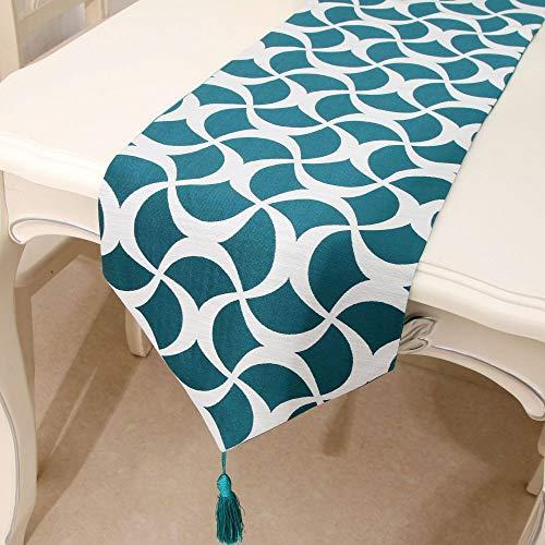 Camino de Mesa con Borla de Lino Lavado Mantel Mantel Mantel Retro Adecuado para la decoración de la Cocina del hogar