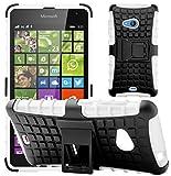 G-Shield Hülle für Microsoft Lumia 535 Stoßfest Schutzhülle mit Ständer - Weiß