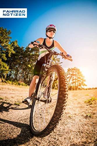 FAHRRAD NOTIZEN PUNKTRASTER NOTIZBUCH: 6x9 Zoll (ähnlich A5 Format) Merkbuch mit Downhill MTB Mountainbike Helm Frau Cover tolle Geschenkidee für Männer Frauen Kinder