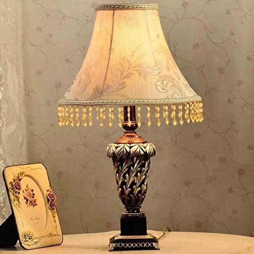 HYY-YY - Lámpara de mesa, personality, estilo europeo sencillo, iluminación creativa para el hogar, lámpara de mesita de noche, iluminación para el dormitorio, lámpara hueca de resina