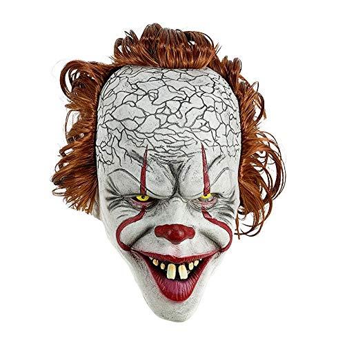 XWYWP Mscara de Halloween Mscara de terror de ltex de cara completa, mscara de miedo para fiestas de Halloween