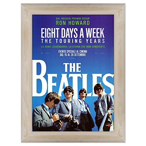 Póster original de Conkrea con marco – enmarcado – The Beatles: Eight Days a Week – Tamaño 70 x 100 cm
