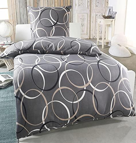 Dreamhome Warme Winter Microfaser Thermo Fleece Bettwäsche 135x200 155x220 200x200 Moderne, Design - Motiv:Design 5, Größe:135 x 200 cm