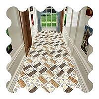 バスルームのキッチン、カスタムサイズのための廊下の敷物廊下のカーペット、廊下の廊下のカーペットのための長いランナーの敷物 (Color : A, Size : 100x400cm)