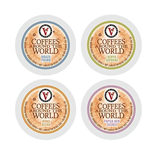 Coffees Around The World Variety Pack for K Cup Keurig 2.0 Brewers, Victor Allen's Coffee Medium Roast Single Serve Coffee Pods, 96 Count