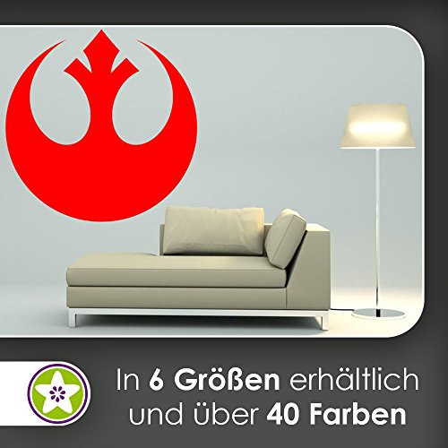 hauptsachebeklebt KIWISTAR Rebellen-Allianz Wappen Symbol Wandtattoo in 6 Größen - Wandaufkleber Wall Sticker