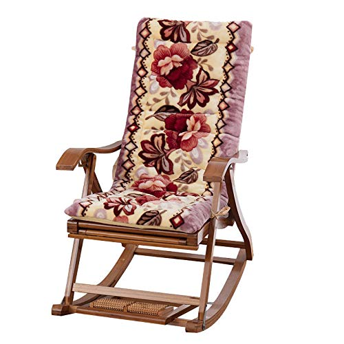 Plush Rocking Chair Cushion Food,Garden Patio Thick Padded Bed Recliner Relaxer Chair Seat Cover for Indoor Outdoor(Without Chair) Brown 19x47inch