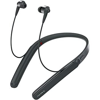 Sony WI1000X Premium Noise Cancelling Wireless Behind-Neck In Ear Headphones (International version/seller warranty) (Black)