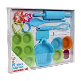 We Can Cook - Conjunto de repostería infantil 14 piezas, caja de regalo azul