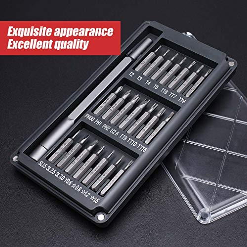 Precision Screwdriver Set with 21 Bits,Electronics Repair Mini Tool Kit, Small Magnetic Torx Screwdriver Set Fixing Most Electronics as iPhone, MacBook, Watches, Laptop, Camera (21 in 1)