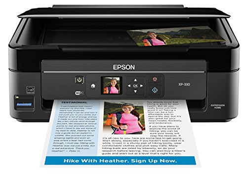Epson Expression Home Xp-330 Wireless Color Photo Printer with Scanner and Copier, Amazon Dash Replenishment Ready