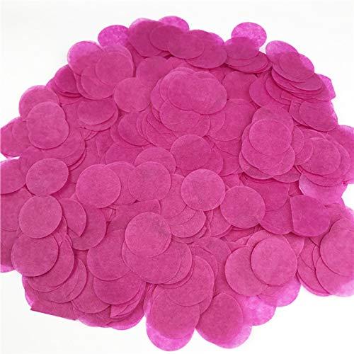 tianxiangjjeu Confeti Multicolor Tejido Redondo para Boda Bebé Despedida De Soltera Cumpleaños Aniversario Fiesta De San Valentín Rosa roja