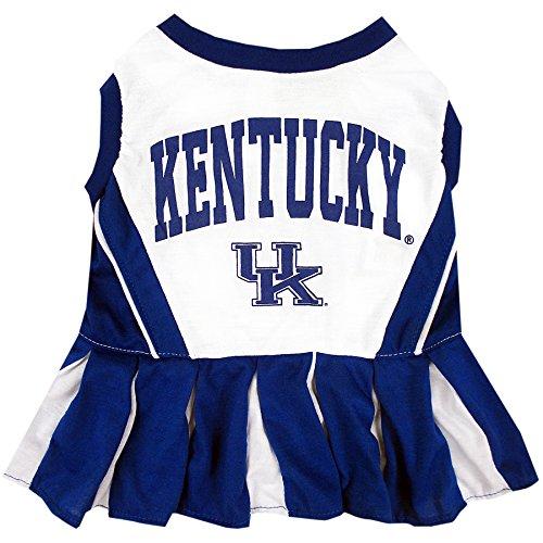 Pets First Collegiate University of Kentucky Wildcast Dog Cheerleader Dress, Small