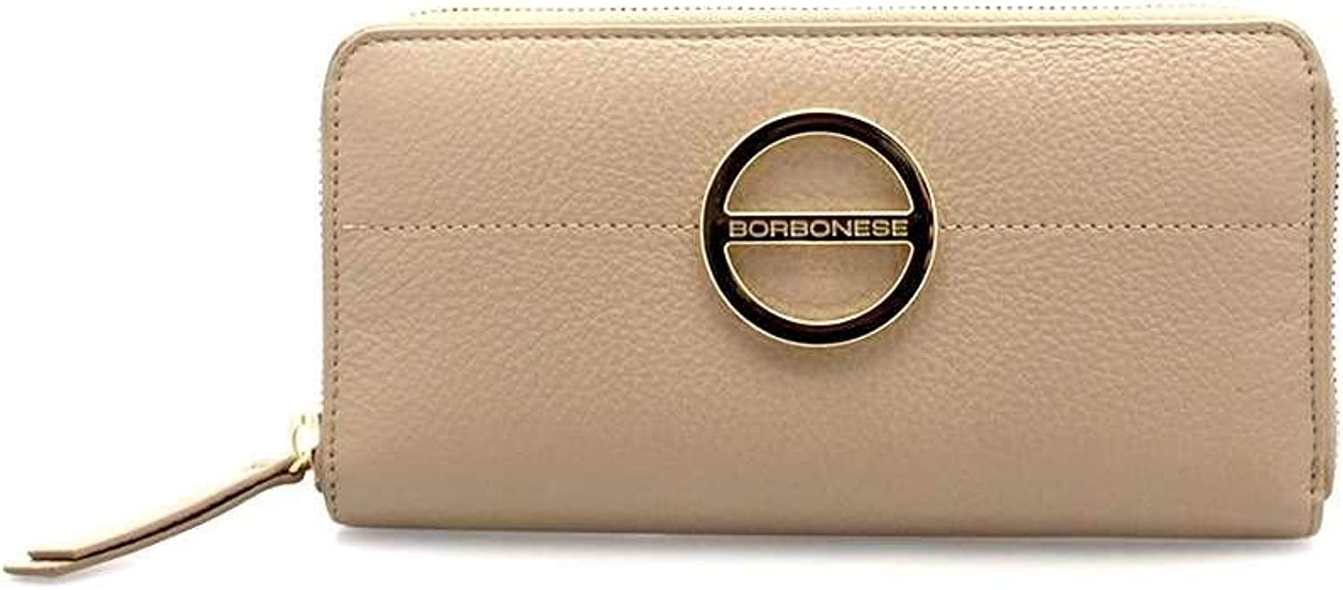 BORBONESE Wallet Female Leather Almond  910555419S23
