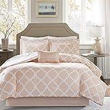 Madison Park Essentials Merritt Comforter (Set), Full(78'x86'), Peach