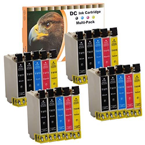 Cartuchos de Tinta Cartuchos de impresora (No Original) para Epson D68D68PE D88D88plus D88PE DX 3800DX 3850DX 4200DX 4250DX 4800DX 4850, color 20er Set (B/C/M/Y)