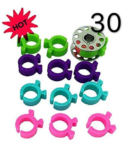 30 clips de bobina para sujetar pinzas de bobina, ideales para bordar, acolchar y coser a máquina de coser PeavyTailor